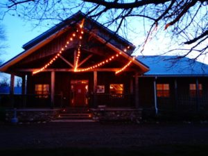 night view of rustic barn -happy anniversary to Quincy