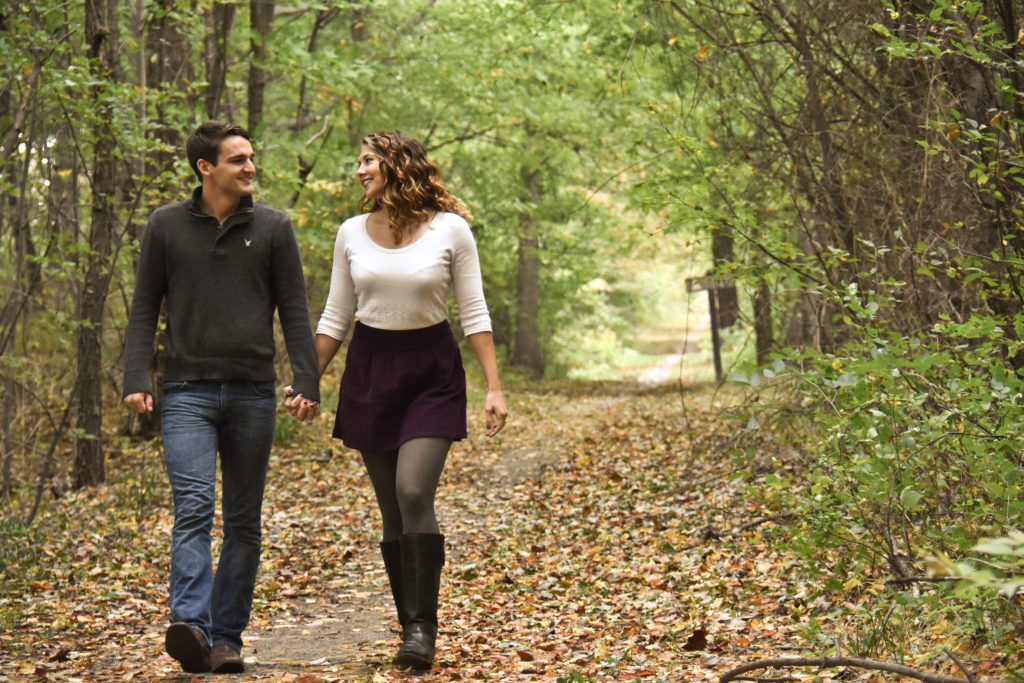 couple on Fall walk